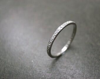 Diamond Eternity Wedding Engagement Ring Band Diamonds Rings Women Jewelry Gift Thin Band Pave Setting Custom Made Jewellery in Platinum