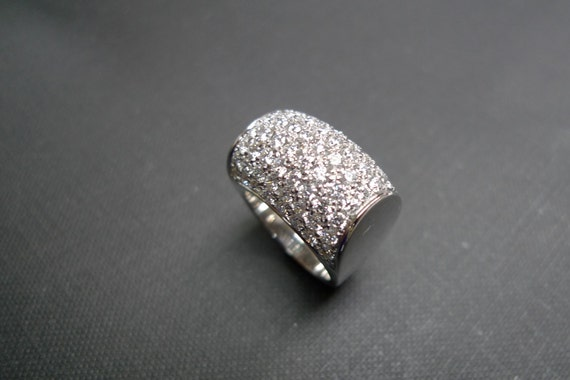 Diamond Ring Mens Ring in 14K White Gold
