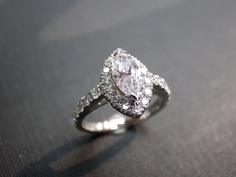 zoom - Marquise Diamond Wedding Ring