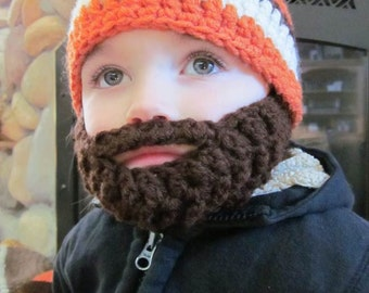 SALE!! Kids ULTIMATE Bearded Beanie Orange Mix