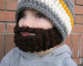 SALE!! Kids ULTIMATE Bearded Beanie Grey Mix