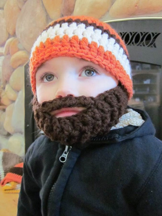 Kids ULTIMATE Bearded Beanie Orange Mix