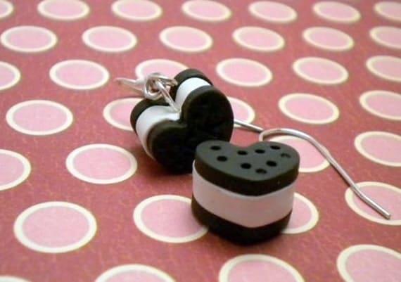 Heart Ice Cream Sandwich Earrings