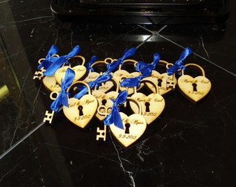 160 Heart and Key Wedding Favors  Love Locks
