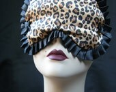 Cheetah Satin Sleepmask Eye mask Burlesque Boudoir Blindfold Marceline by Love Me Sugar