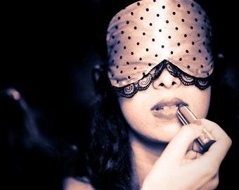 Pink Boudoir Sleep mask  Bernadette-  as featured on The Lingerie Journal