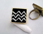 YOU DRAW Chalkboard Blackboard Eco Chic Ring