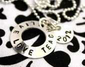 Teacher Appreciation Jewelry is Personalized with Year