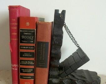 Vintage Homedecor  Wooden (Drawbridge) Bookend Giftidea