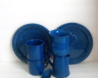 Campingware  Enamel Dinnerware Blue Granite