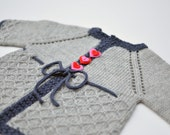 Knit Baby Sweater, Knit Toddler Sweater, Valentine Sweater, Heart Buttons, Heirloom Cardigan
