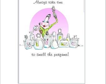 Funny women humor print, women humor art, art for women, inspiring print, perfume art, art for women, powder room art