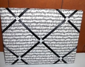 Music Notes Band Black White Memory board