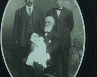 Cabinet Photo Men and Baby - Santa Maria , California - Grandfather