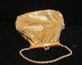 1930s Purse Mesh Purse Whiting And Davis Vintage Purse Gold Mesh Handbag Wedding Purse Bridal Handbag Art Deco Purse
