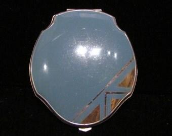 Art Deco Compact Powder Compact 1940's Compact Elgin American Compact Enamel Compact Mirror Compact Vintage Compact