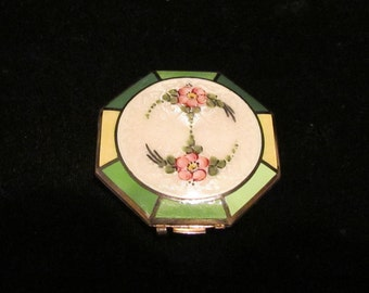 Ripley & Gowen Compact Vintage Guilloche Compact 1920's Compact Mirror Compact Rouge Compact