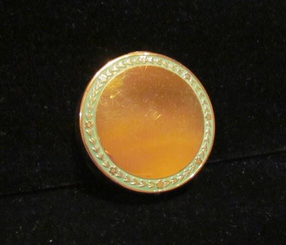 Vintage Djer Kiss Compact 1917 Powder Compact Mirror Compact Gold Compact Enamel Compact Art Nouveau