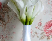 Wedding Bouquet Large Ivory Calla Lily Bridal Bouquet Real Touch