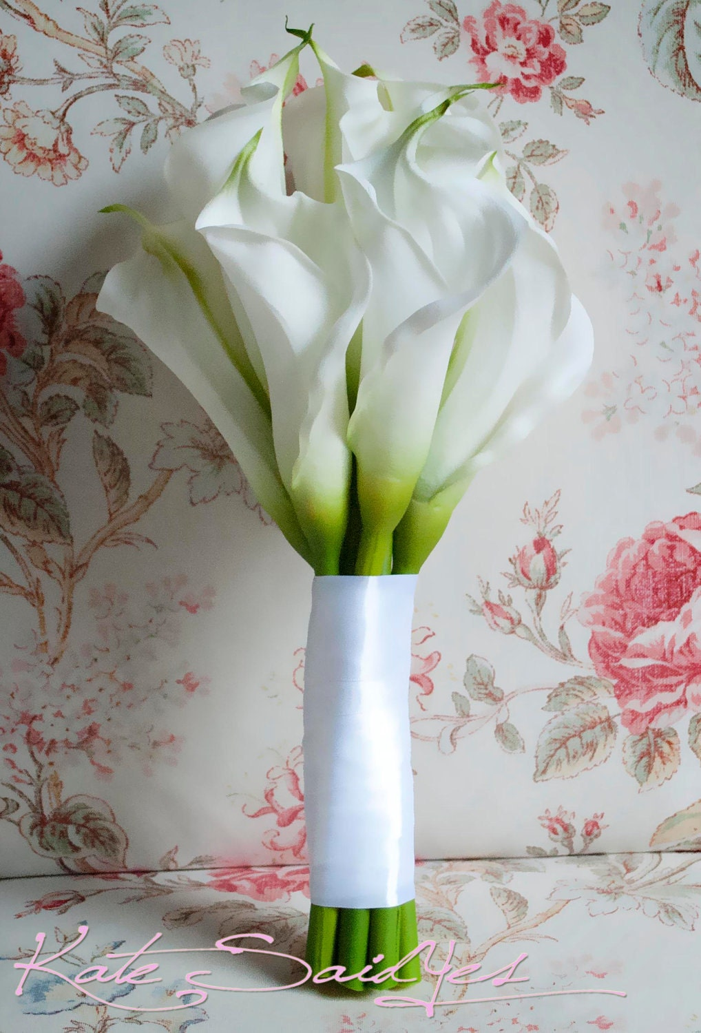 Wedding Bouquet Large Ivory Calla Lily Bridal Bouquet Real