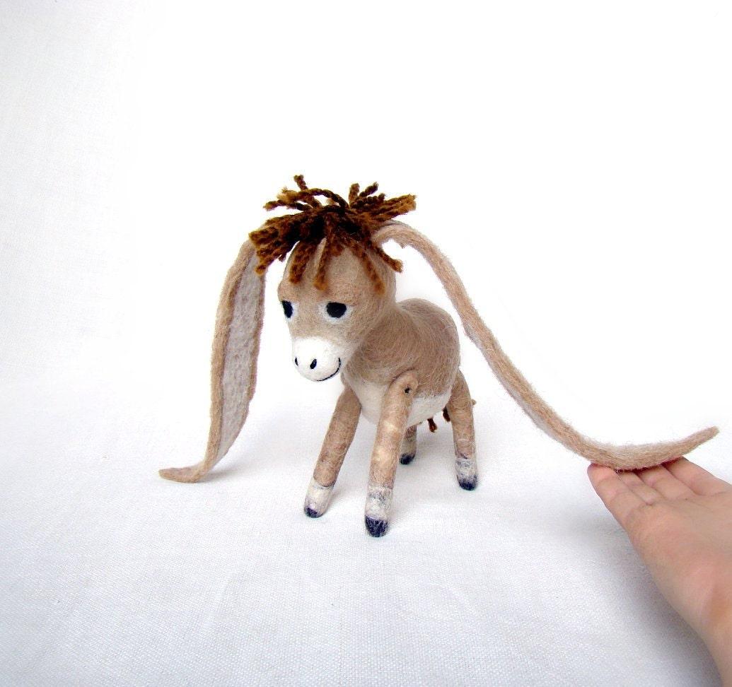 Nestor The Long Eared Christmas Donkey Art Toy Standing