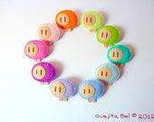 Little felt sheep brooch, Pastels and Brights colours - Choose your colour