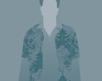 "Hoban ""Wash"" Washburne Firefly 8x10 minimalist poster blue"
