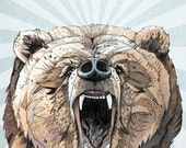 Grizzly // A5 print
