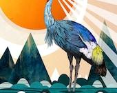 Crowned Crane // A5 print 5x8