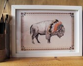 White Bison // Signed A4 print