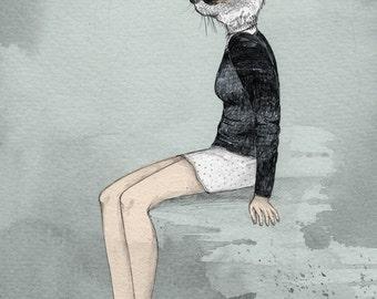 Cat Woman  // A5 Print 5x8