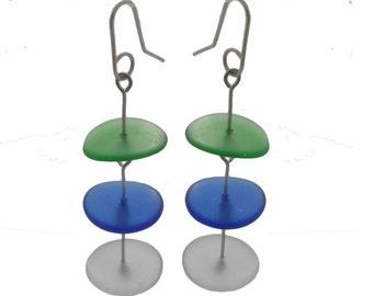 Glass Pancake Earrings.