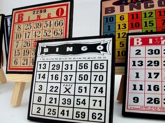 Bingo Cards Drink Coaster Set