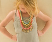 little livly (amber beads on pink jersey) - pretty little treasures