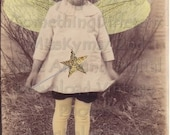 The Reluctant Fairy Vintage digital photo,altered image