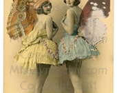 Butterfly Fairy Queens  Vintage Image, digital download