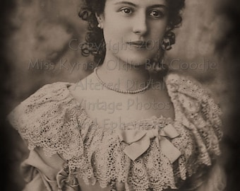 Vintage Beauty photo, digital download