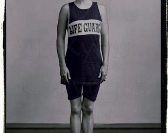 Mr. Lifeguard photograph,  digital download scan, for altered art and crafts
