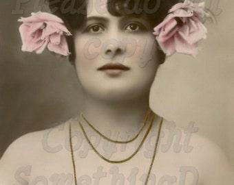 Beautiful Woman vintage photo digital download