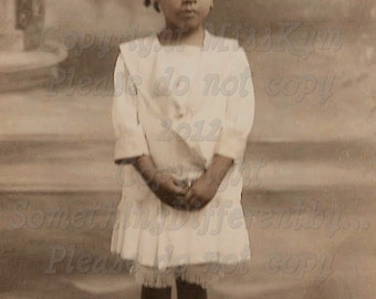 Dreamy Little French Girl, Vintage photograph, digital download