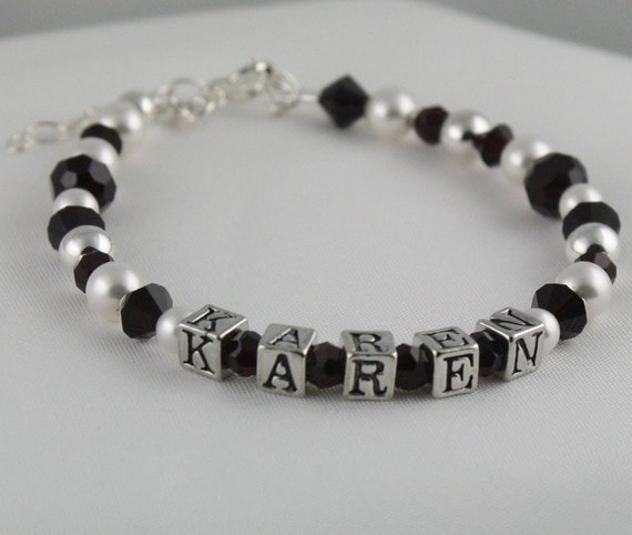 Birthstone Sterling Silver Personalized Keepsake Bracelet for Little Girls
