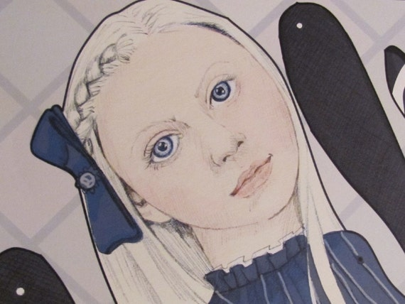 """Alice in Wonderland Jointed Paper Doll - 24"""""""