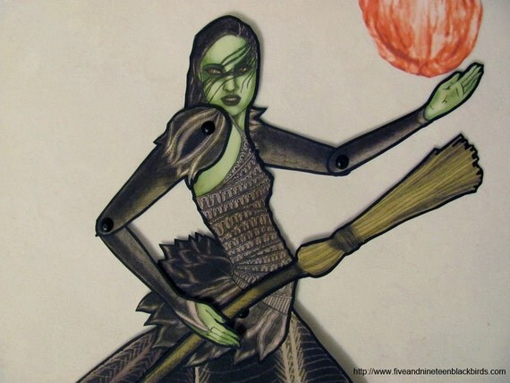 """Wicked Witch of the West Paper Doll-11 1/4"""""""