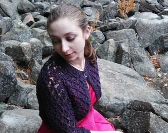 PDF Trellis Lace Bolero Knitting Pattern - Sizes XS - 3X Instant Download