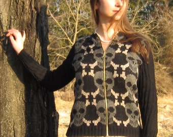 PDF Poor Yorick Cardigan Fair Isle Knitting Pattern Instant Download