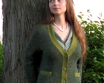 PDF Tweedy Pie Cardigan Knitting Pattern Instant Download