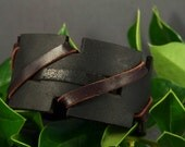 Black Leather Cuff, Brown Leather Cuff, Womens Leather Cuff, Mens Leather Cuff, Leather Wristband, Leather Bracelet, Leather Thick Cuff