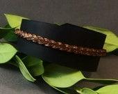 Leather Cuff, Black Leather cuff, Womens Cuff, Mens Cuff, Boho Leather Cuff, Leather Wristband, Retro Leather Cuff, Gift