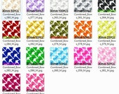 Custom pick 17 colors 30mm satin ribbon bow 200PCS