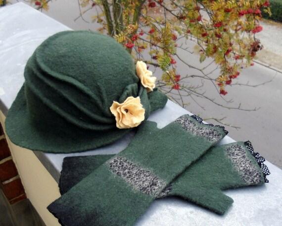 Felted Hat Autumm Paradise